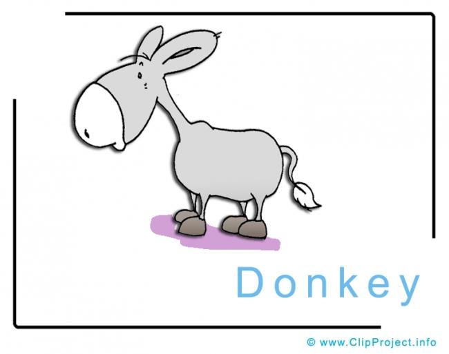 Donkey Clip Art Image free