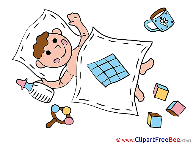 Bed sleeping download Baby Illustrations