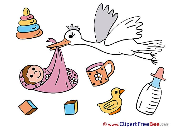 Birth Stork free Illustration Baby