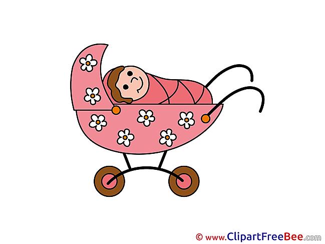 Stroller free Illustration Baby