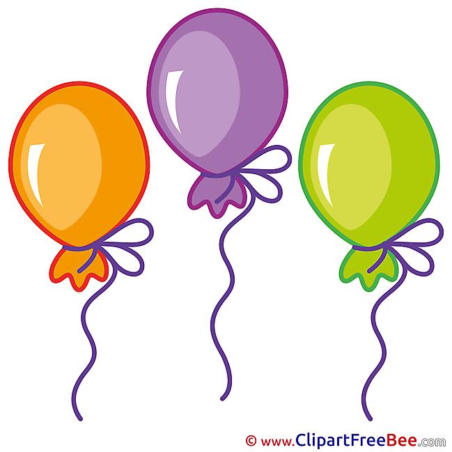 Balloons free Illustration Birthday