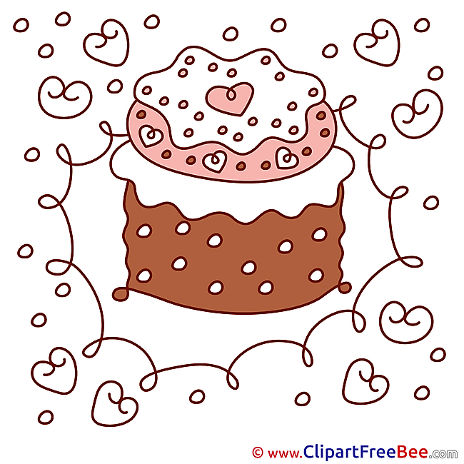 Cake Birthday Clip Art for free