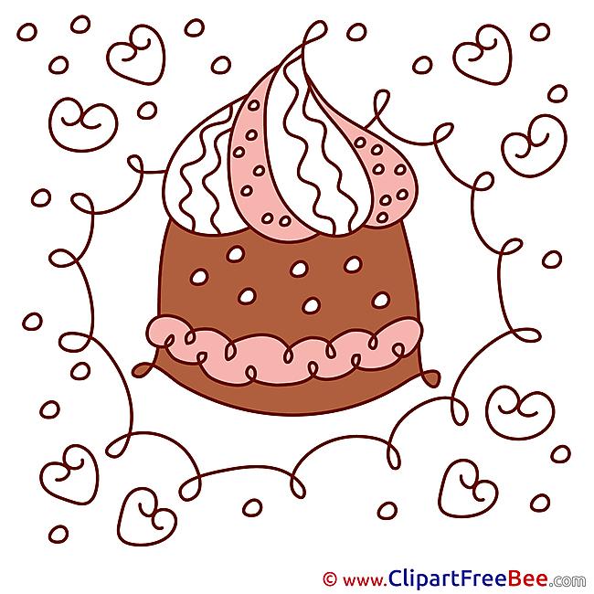 Cake printable Illustrations Birthday