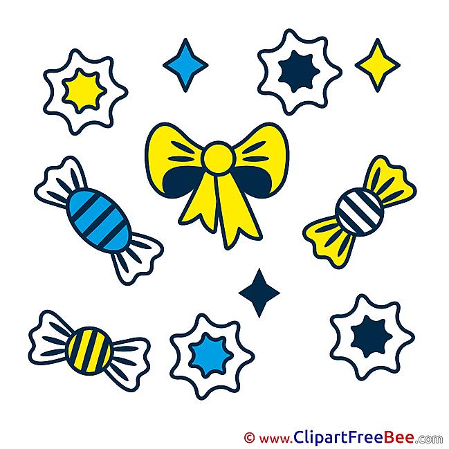 Candies Clipart Birthday Illustrations