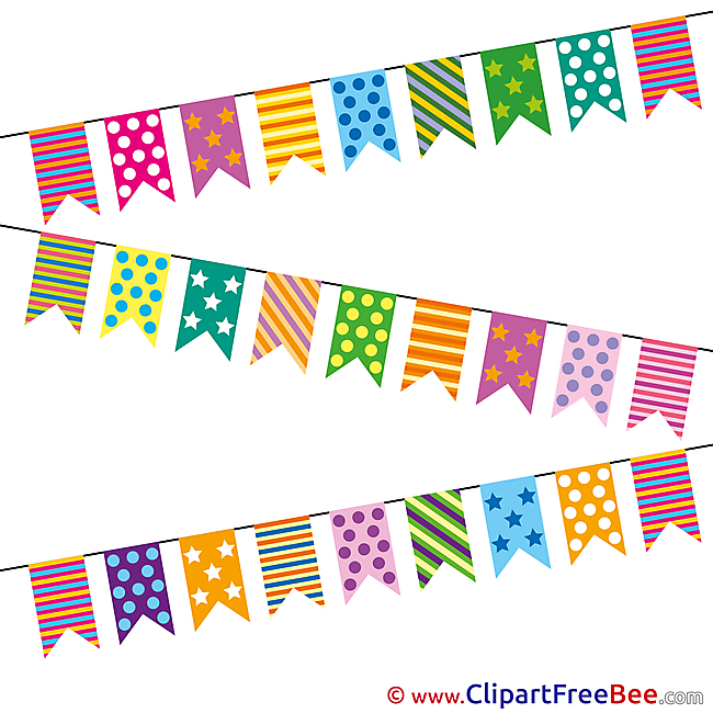 Flags Feast Cliparts Birthday for free