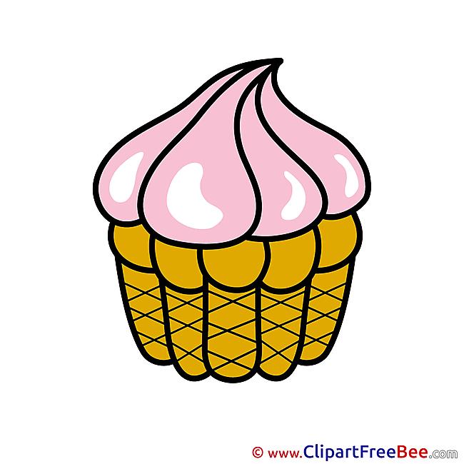 Little Cake Birthday Clip Art for free