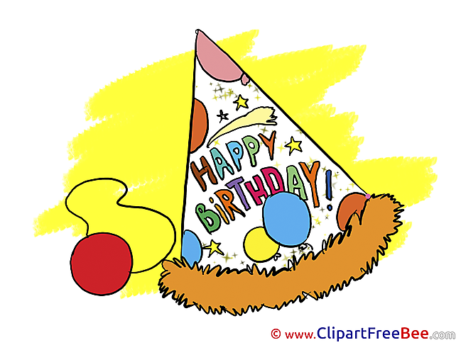 Party Hat Birthday Greeting Cards for free