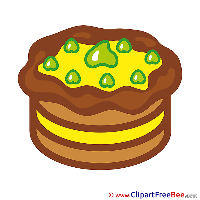 Pastry Birthday Clip Art for free