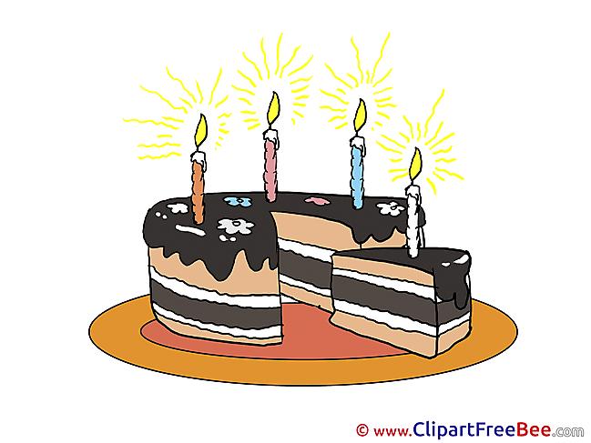 Piece of Cake free Illustration Birthday
