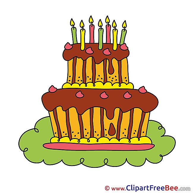 Printable Birthday Cake Images