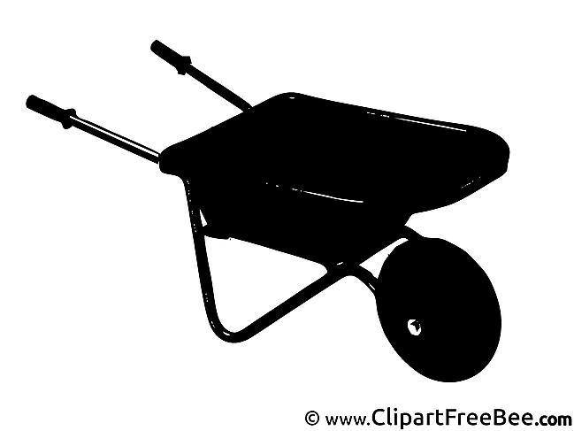 Wheelbarrow printable Illustrations for free