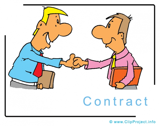 Contract Clipart Image - Business Clipart Images for free