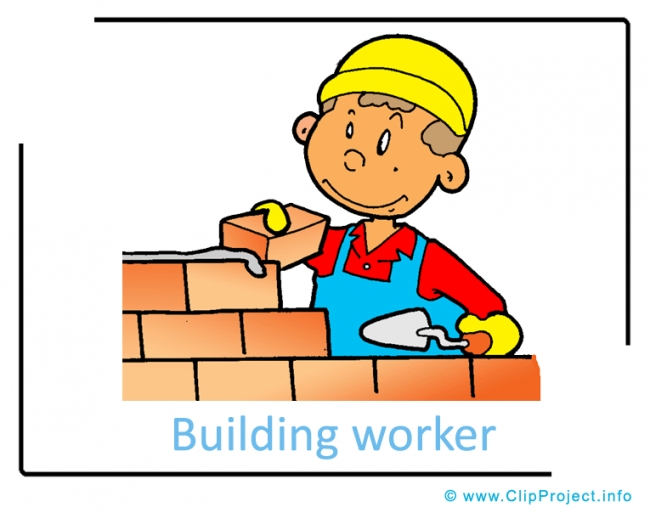 Building Worker Clipart Image - Career Clipart Images