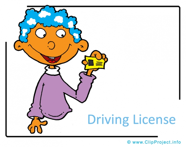 Driving License Clipart Image - Career Clipart Images