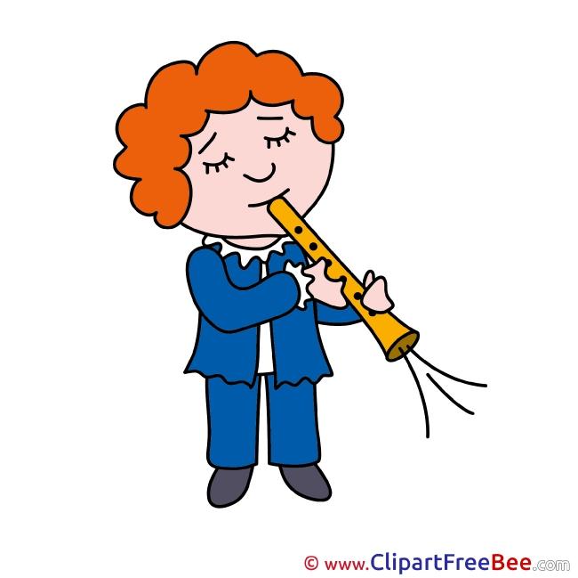 Flutist Clip Art download for free