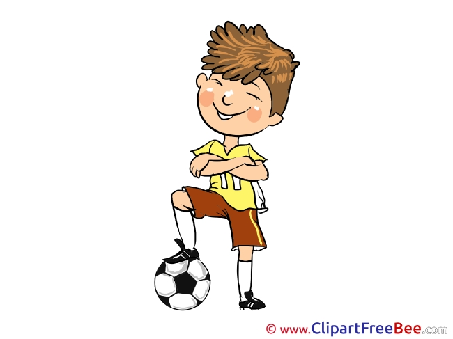 Footballer printable Illustrations for free