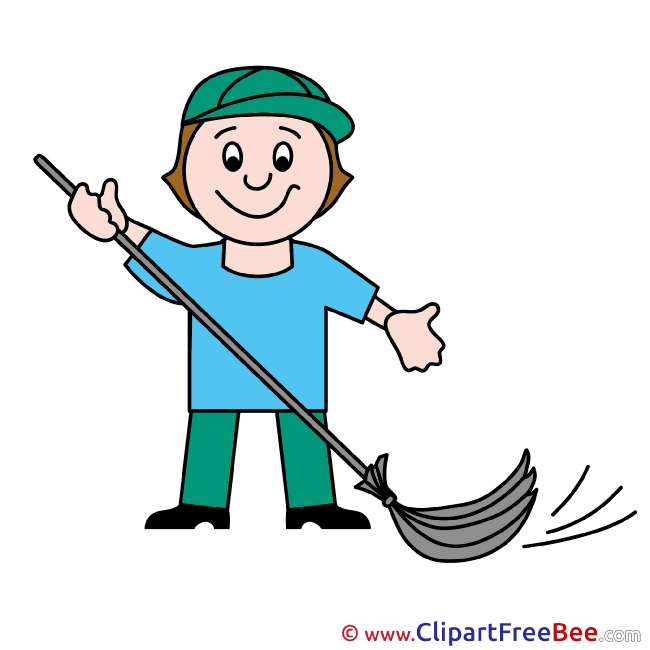 Janitor free printable Cliparts and Images
