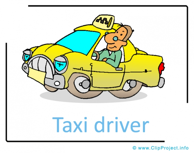 Taxi Driver Clipart Image - Career Clipart Images