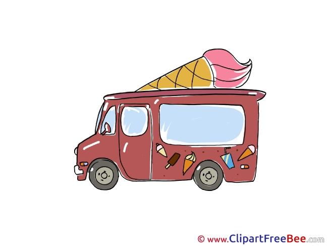 Picture Ice Cream Truck download Clip Art for free