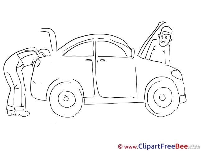 Repairs Car Clipart free Illustrations
