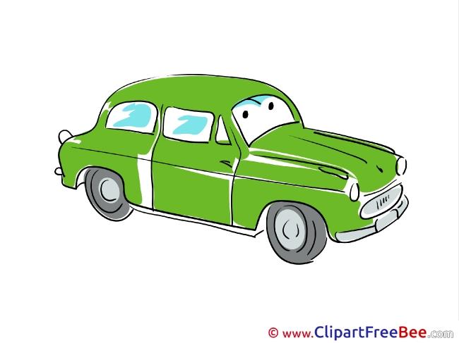 Retro Car Pics printable Cliparts