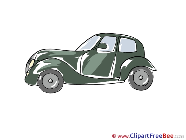Retro Car printable Illustrations for free