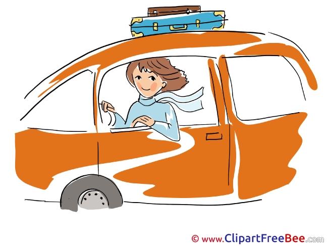 Travel Car Woman Pics download Illustration