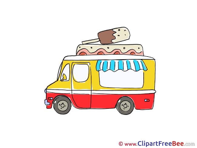 Vehicle Ice Cream Truck Clipart free Illustrations
