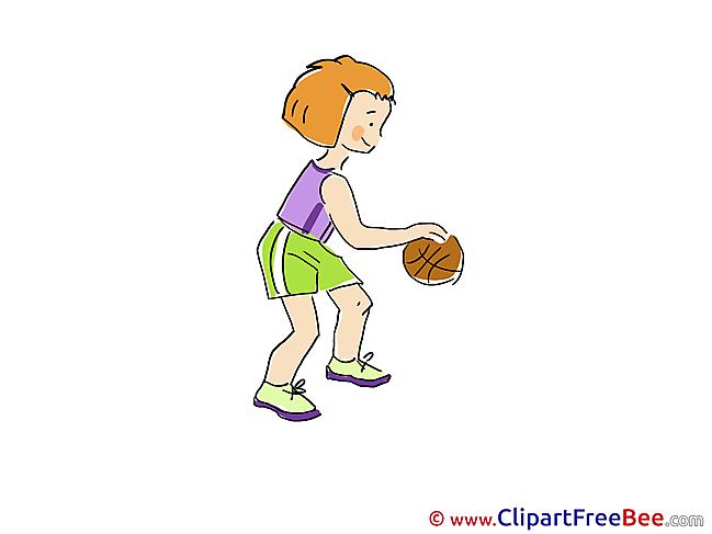 Basketball Girl Pics printable Cliparts