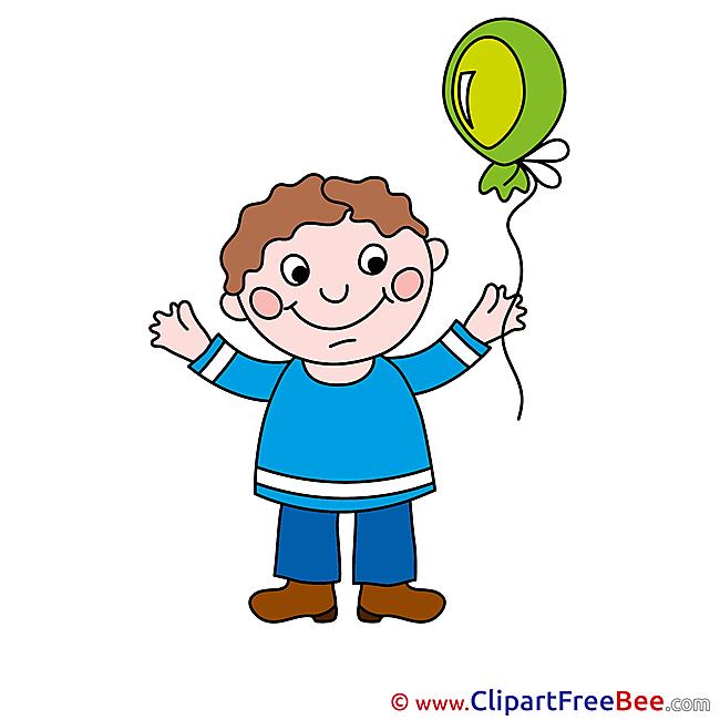 Drawing Balloon Boy Pics download Illustration