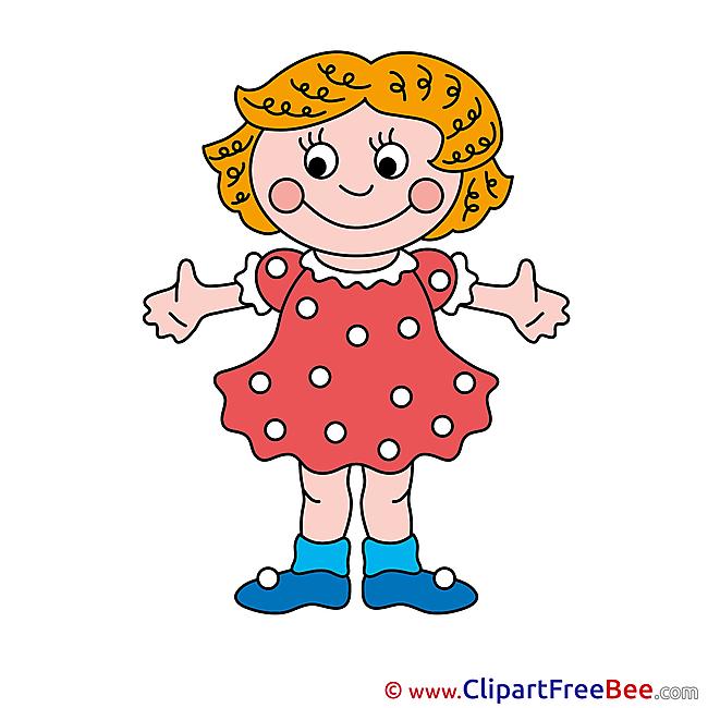Dress Girl Clipart free Illustrations