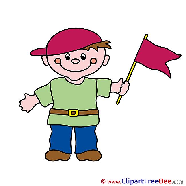 Flag Boy Clipart free Illustrations