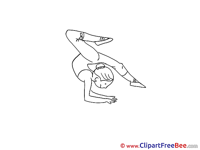 Gymnastics Girl Pics download Illustration