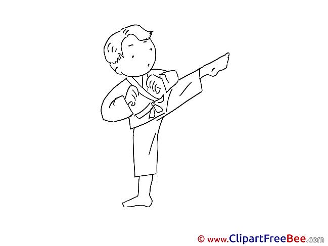 Karate Boy Clip Art download for free