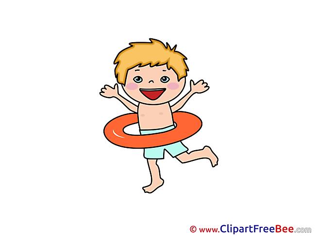 Lifebuoy Boy Clipart free Illustrations