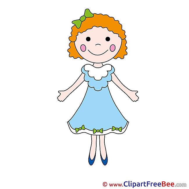 Little Girl download printable Illustrations
