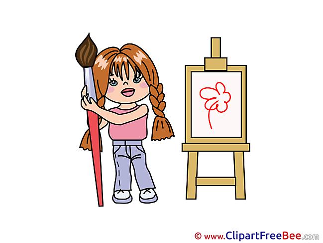 Painter Child Pics free download Image