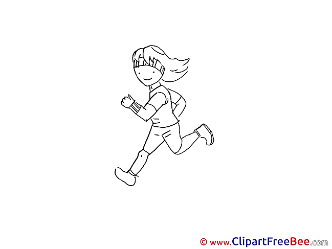 Run Girl download printable Illustrations