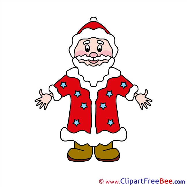 Christmas Santa Claus Clip Art for free