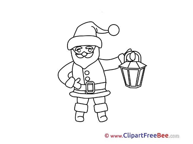 Coloring Santa Claus Christmas download Illustration