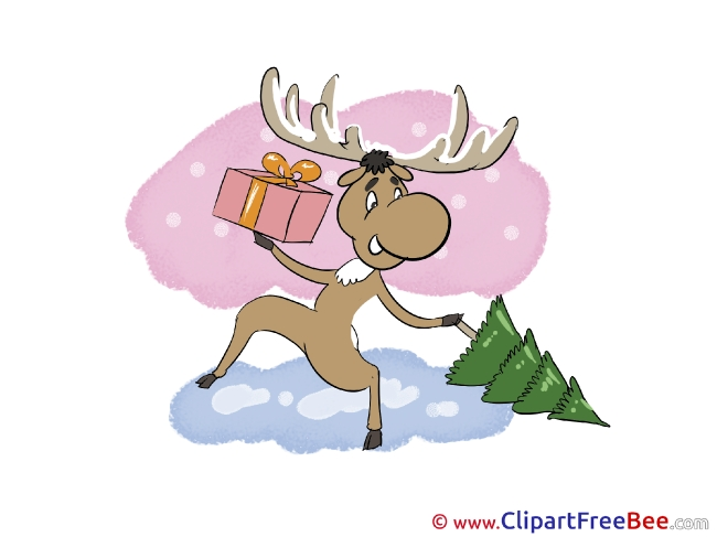 Deer Clipart Christmas Illustrations