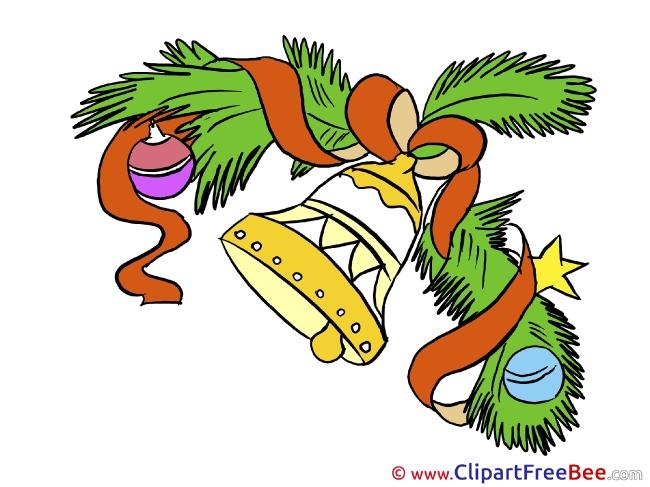 Jingle Bell Wreath printable Illustrations Christmas