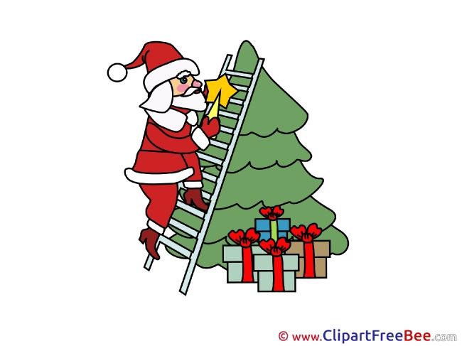 Presents Santa Claus free Cliparts Christmas