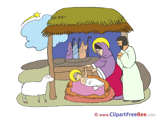 Scene of Jesus Birth Christmas free Images download