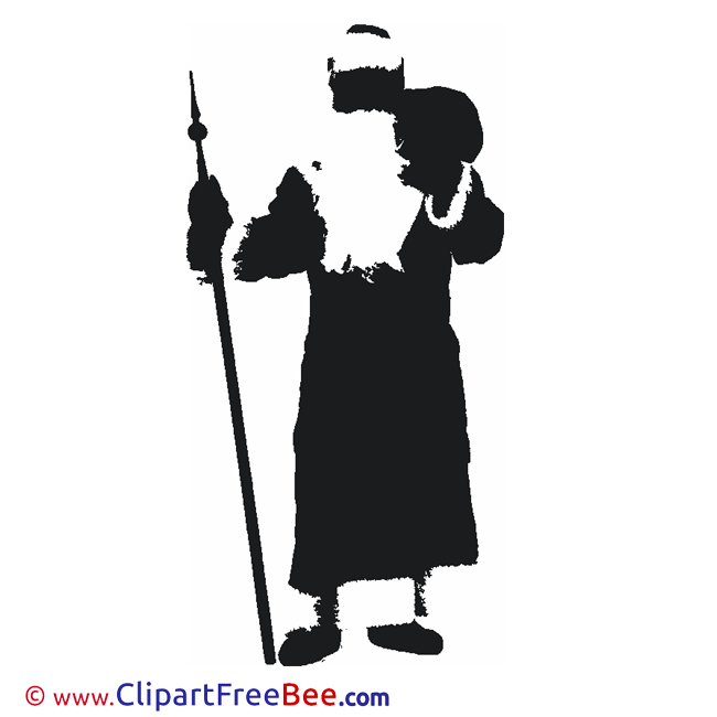 Silhouette Santa Claus free Illustration Christmas