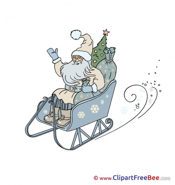 Sleigh Pics Christmas free Cliparts