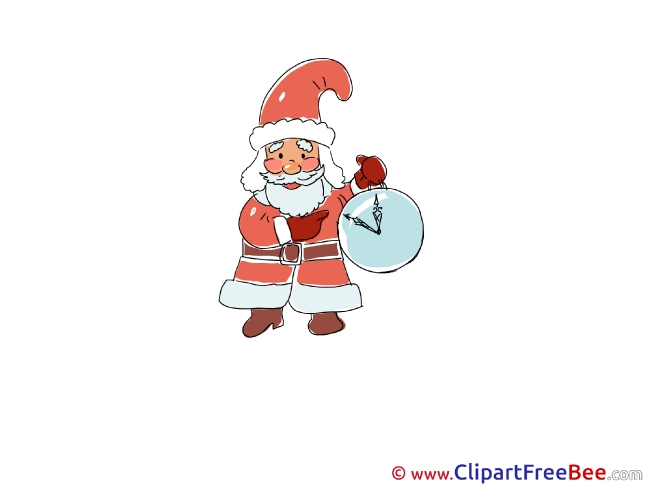 Time Santa Claus download Christmas Illustrations