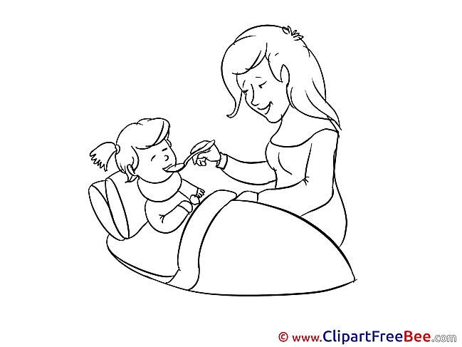 Mother Medicine Pills Daughter Pics Get Well Soon  free Image