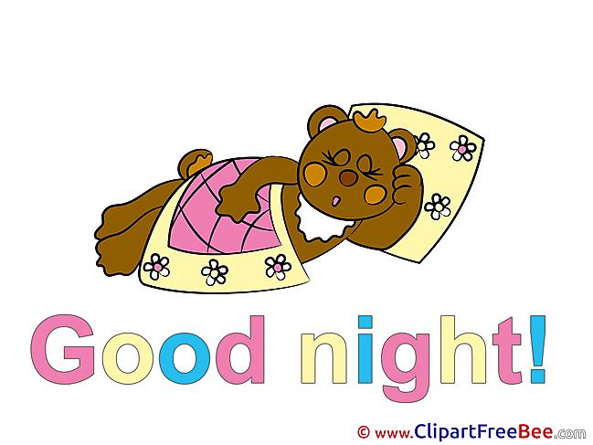 Blanket Pillow Bear download Good Night Illustrations