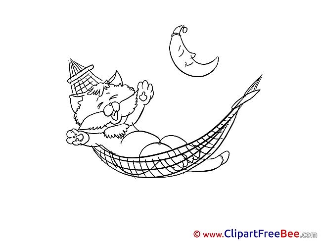 Kitten Clipart Good Night free Images